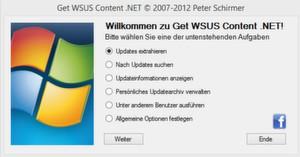 """Voraussetzung für das Tool """"Get WSUS Content"""" ist das .NET-Framework, Version 4.0."""
