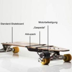Wie sich jedes beliebige Skateboard elektrisch mobil machen lässt