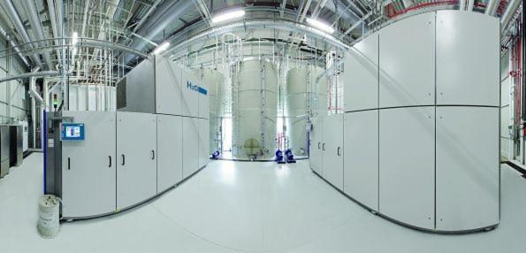 In Vakuumdestillationsanlagen wie der Vacudest von H2O wird das verunreinigte Wasser unter Vakuum verdampft.