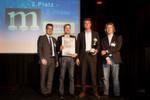 Platz 2 bei den marconomy Awards 2013 holte sich Bosch Rexroth. Program Manager Marco Rüb (2. von links) nahm den Preis stellvertretend für sein Unternehmen entgegen.