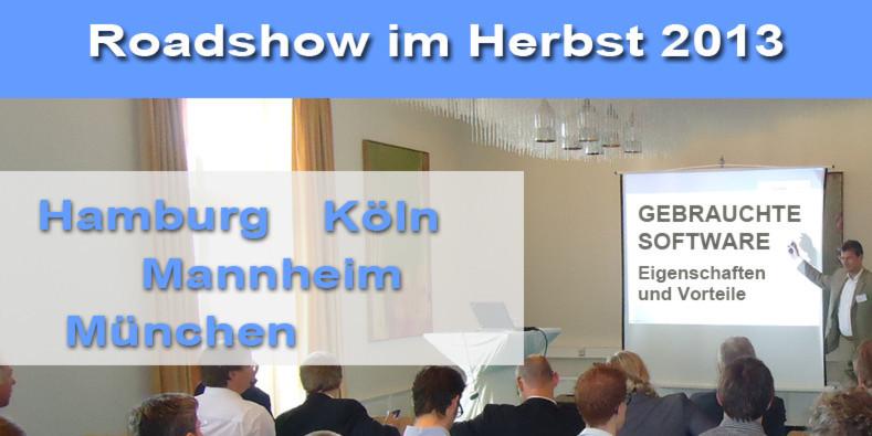 """Roadshow zum Thema """"Gebrauchte Software - Eigenschaften und Vorteile"""""""