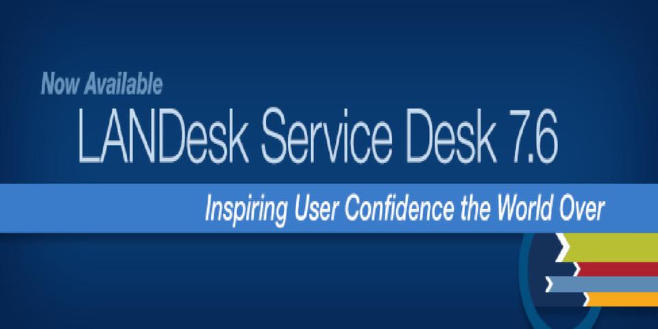 LANDesl Service Desk 7.6 mit einer großen Anzahl von vorgefertigten Standardprozessen