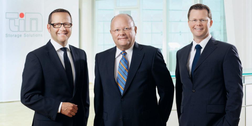 Das Führungstrio der Tim AG - Jörg Eilenstein (l.), Gerd Henneveld (M.) und Tim Henneveld - setzt auf Kontinuität und Augenhöhe mit den Partnern.