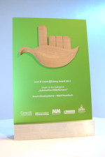 """Lean & Green Efficiency Award"" – gestiftet von den Unternehmensberatungen Growtth Consulting Europe und Quadriga Consult."