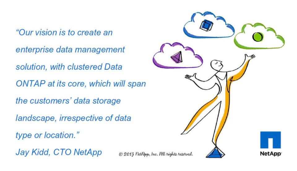 Clustered Data Ontap ist das Schlüsselelement in der Vision eines grenzenlosen Daten-Managements.