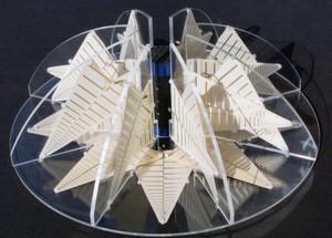 Bild 1: Mit der 3D-Antenne IsoLOG 3D wird Technik zur Kunst erhoben