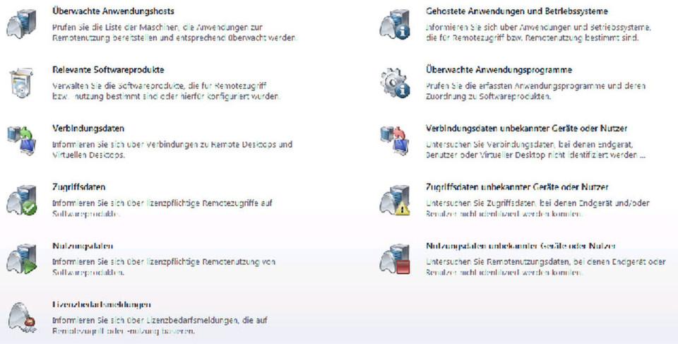 Screenshot vom Einstiegsmonitor für eine Compliance-entsprechende Überwachung von Lizenzen durch Matrix42 Workspace Management.