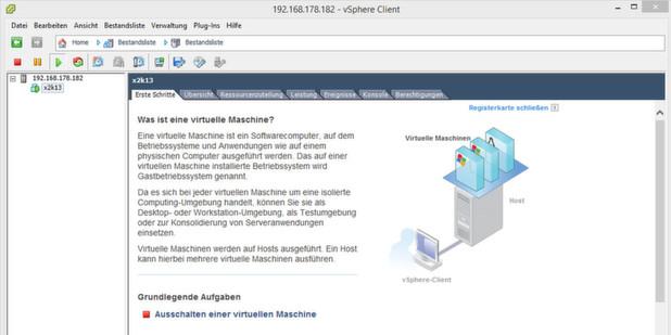 Der VMWare vSphere Hypervisor (ESXi) und der vSphere Client ermöglicht einen einfachen und kostenlosen Einstieg in die Welt der Virtualisierung.