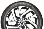 Von der Seite sieht das i3-Rad noch wie ein typisches BMW-Rad aus: großer Durchmesser und attraktives Design.
