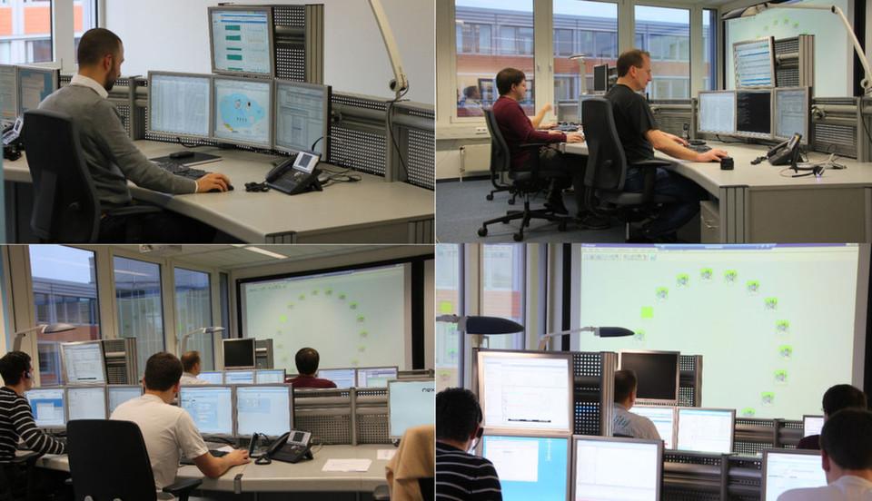 Im Network Operations Center von Nextira One, einem Anbieter von Managed Services.