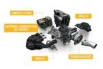 Im Antriebskonzept der Formel 1 ist der Verbrennungsmotor nur noch eine Komponente. MGU-H bedeutet Energiegewinnung aus Abgaswärme, MGU-K die Rekuperation von Bremsenergie.
