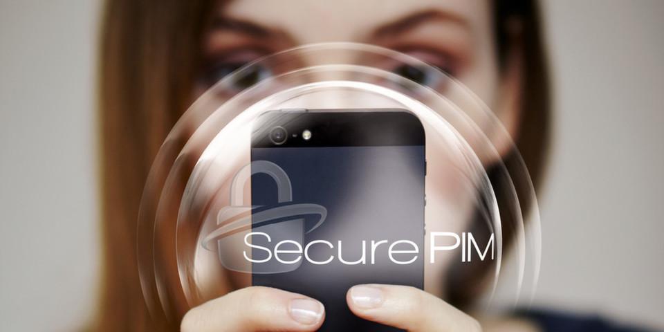 Mit SecurePIM können nur authentifizierte Anwender auf geschäftliche Daten und E-Mails zugreifen.