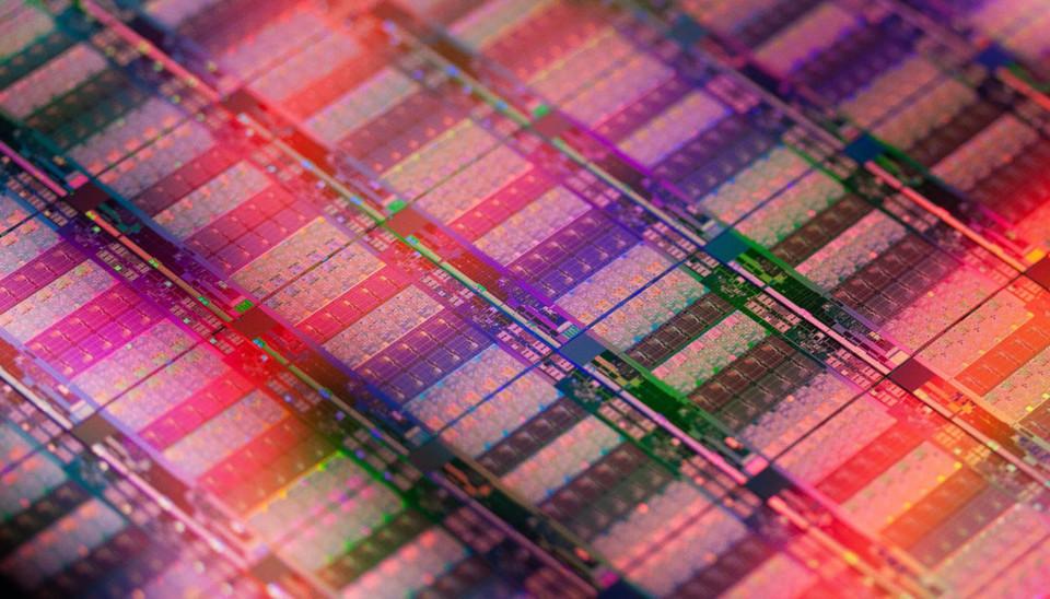 Wafer-Aufnahme des Intel-Prozessors Xeon E7 v2