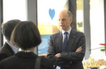 Vorstandsvorsitzender Dr. Kurt Bock im Gespräch.