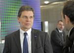 Finanzvorstand Dr. Hans-Ulrich Engel im Gespräch.