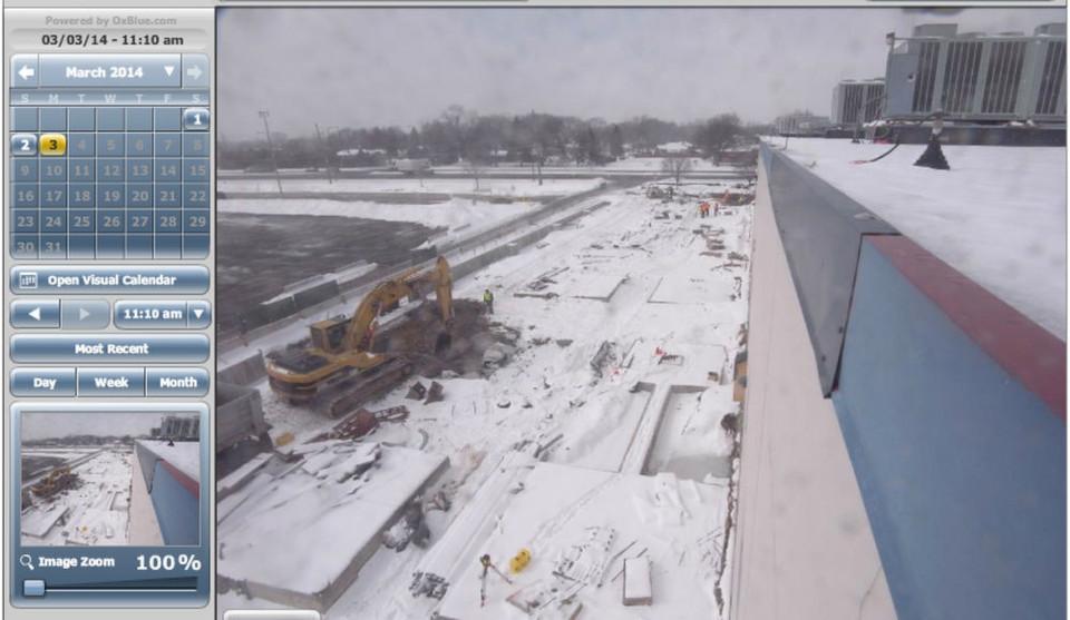 Nicht nur in Chicago , wie hier das Bild einer Webcam zeigt, baut Century Link Rechenzentrumskapazitäten auf.