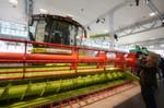 Ein Mähdrescher auf der CeBIT? Hersteller Claas zeigt unter dem Titel 'Farming 4.0', wie viel IT bereits heute in der Landwirtschaft steckt.