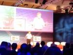 Eugene Kaspersky auf der Keynote über Cybercrime.