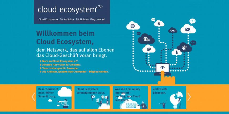 Cloud Ecosystem e. V. möchte die Cloud attraktiver machen und führt als Plattform Anbieter von Cloud-Lösungen und Cloud-Nutzer zusammen.