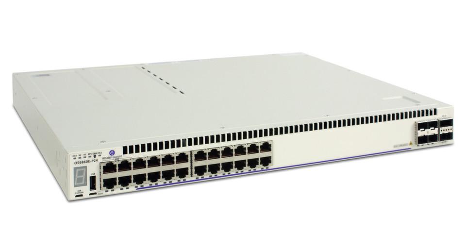 An vier Gigabit-PoE-Ports liefert der OS6860 bis zu 60W und damit genug Energie für Small Cells mit einer Kombination aus Mobilfunk und Wi-Fi oder HD-Überwachungskameras.