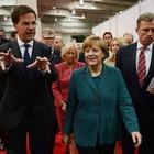 Mit Frau Merkel auf Hannover-Messe-Rundgang