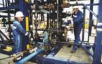Arbeiten bei der Durchführung eines Fracs