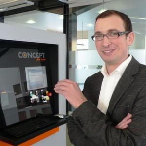 Dr. Florian Bechmann ist Entwicklungsleiter beim Laser-Cusing-Spezialisten Concept Laser in Lichtenfels.