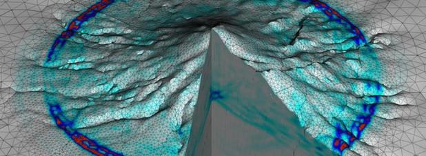 Visualisierung von Schwingungen im Inneren des Vulkans Merapi
