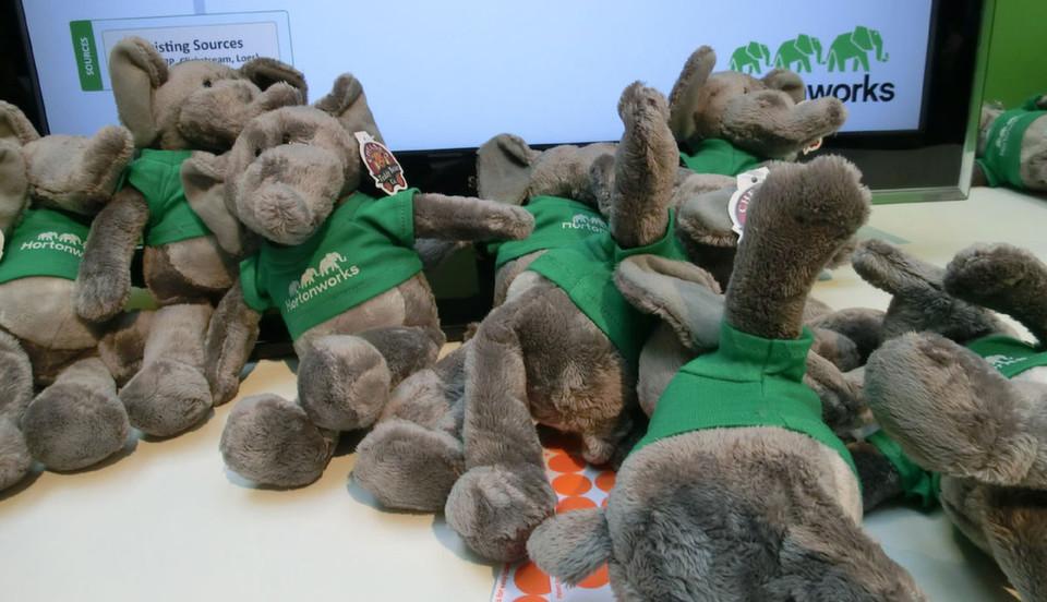 Das Maskottchen von Hortonworks ist ein grün gewandeter Elefant.