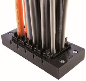 Durch innovative Geltechnologie erreicht die Skintop Cube Multi eine besonders hohe Packungsdichte sowie optimale Zugentlastung am gesamten Kabelbündel.