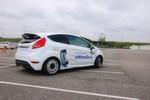 """Zur Fahrerprobung hat Schaeffler den """"E-Wheel-Drive"""" in einen entkernten Ford Fiesta eingebaut."""
