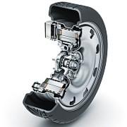 """Viel Technik auf wenig Raum: der """"E-Wheel-Drive"""" von Schaeffler."""