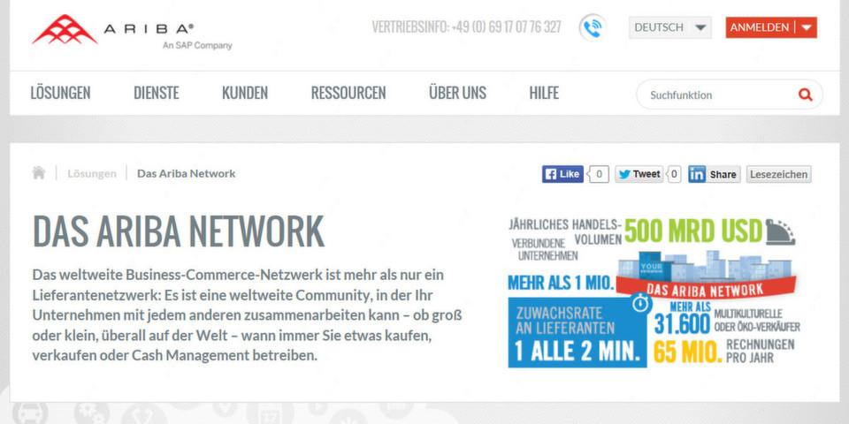 Die In-Memory-Plattform SAP HANA soll das weltweite Business-Commerce-Netzwerk Ariba schneller und besser machen.