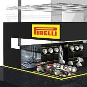 """Neuer Stand mit viel Formel-1-Appeal: Pirelli auf der """"Reifen"""" 2014."""