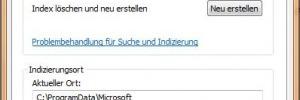 Indexierung in Windows 7 verbessern