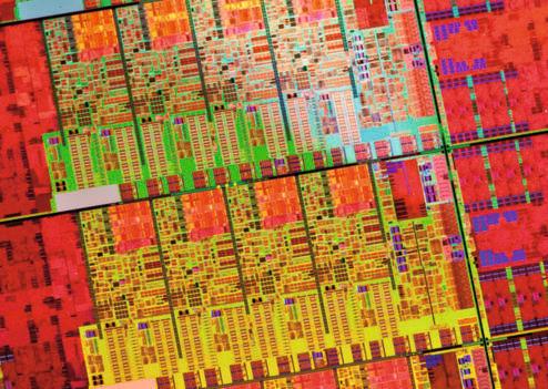 Softwarewerkzeuge für Mehrkern-Prozessoren (hier ein Multicore-Wafer von Intel) sind sehr schwer auf die jeweilige Hardware zu optimieren. Der Beschreibungsstandard SHIM soll hier helfen.