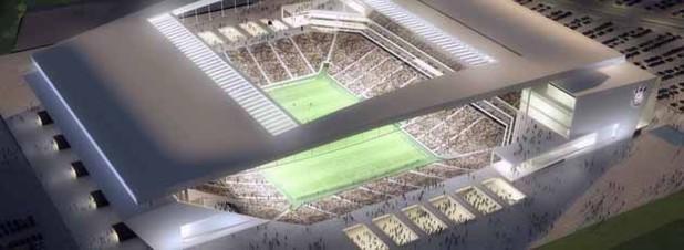 Die Arena Corinthians in São Paulo, in der das Eröffnungsspiel der WM ausgetragen wird