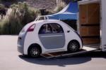 Das Mini-Auto von Google passt in einen Anhänger