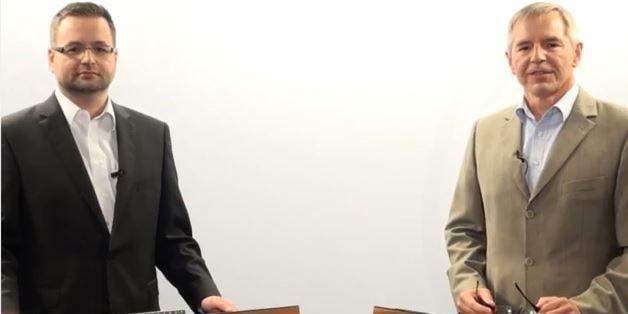 Von links: Alexander Wallner, Geschäftsführer der NetApp Deutschland GmbH & VP General EMEA, im Gespräch mit Moderator Damian Sicking.