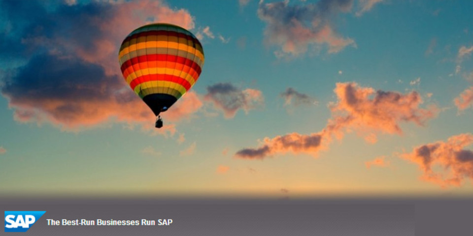 SAP sieht HANA als einheitliche Plattform für alle Cloud-Anwendungen – und illustriert die Pressemitteilung dazu mit einem Ballon voller heißer Luft.