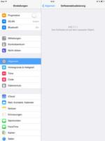 Mit Einstellungen\Allgemein\Softwareaktualisierung überprüfen Anwender, ob die neuste iOS-Version installiert ist. Wenn nicht, lässt sich das iPad an dieser Stelle aktualisieren. Erst ab Version 7.1.1 ist iOS vor gravierenden Sicherheitslücken sicher.
