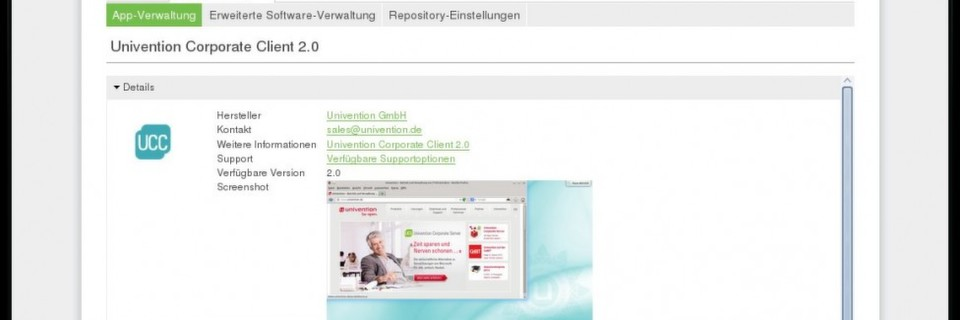 UCC im Unviention App-Center