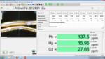 Ergebnisse im Detail: Die verschiedenen Metalle werden in einer entsprechenden Software nach ihren Mengen aufgeführt.