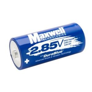 2,85-Volt, 3.400-Farad Ultrakondensator Zelle von Maxwell.