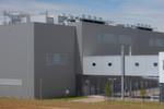 Der neue T-Systems Datacenter Campus in Biere von außen – gesichert mit diversen Toren und jeder Menge Überwachungskameras.