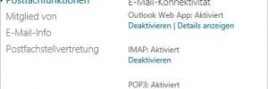 Outlook Web App deaktivieren und der Offlinemodus