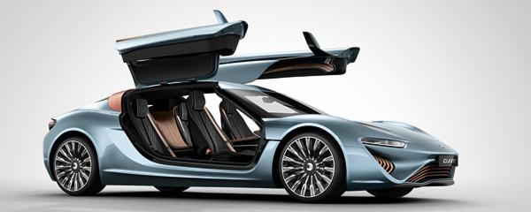 Der TÜV hat den elektrisch angetriebenen Flügeltürer Quant e abgenommen. Das Fahrzeug darf damit offiziell auf Deutschlands Straßen fahren.