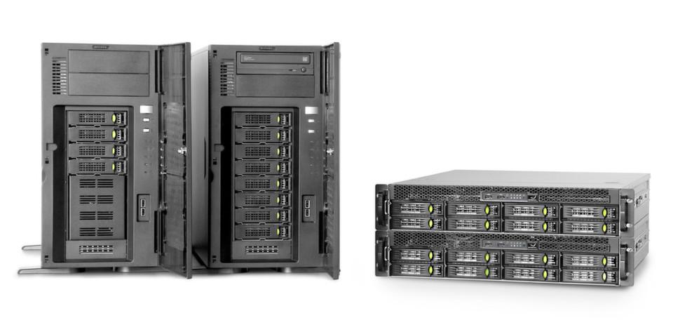 Die Server-Familie von Grafenthal besteht aus Tower-Systemen und Rechnern für den Einbau in Racks.