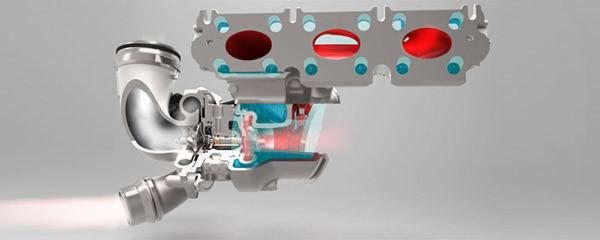 Der Continental Turbolader mit wassergekühltem Aluminium -Turbinengehäuse ist im Dreizylinder-Ottomotor des Mini bereits in Serie.