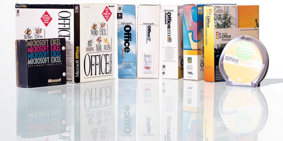 Ein Blick ins Archiv: Office-Pakete aus der Vergangenheit